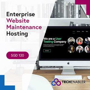 TechEnabler - Website Maintenance Enterprise Hosting - SGD120